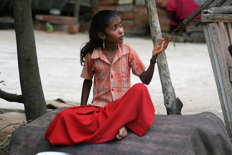"""Nari_kor-avars Gypsy Girl. Taken in Tamil Nadu State. India.<br /> <br /> It was 6.03am and I was walking around the gypsy camp and from a distance I heard a young girl singing. As I approached She waved and continued to sing. I could tell she was singing a heartfelt Worship song, and Yesu, Jesus was what I recognised as she sang in her native language.<br /> <br /> I was so moved and a tear formed in my eye as she sat there singing unto God. After a few moments, My interpretor sought up with me and explained she was singing """"Thank you Jesus for Loving me and I love you"""".<br /> <br /> These are extremely poor gypsies and treated as outcasts by almost all in Society. But with God they are no outcasts and he truly loves them.<br /> <br /> ALL PROCEEDS FROM SALE OF MY ART, OR DONATIONS MADE VIA OUR CHARITY MISSION WEBSITE, REALLY DOES GO TOWARDS HELPING THESE PRECIOUS PEOPLE.<br /> <br /> PLEASE VISIT OUR MISSION CHARITY WEBSITE AT:<br /> <a href=""""http://www.philadelphia33.org/"""">http://www.philadelphia33.org/</a>"""