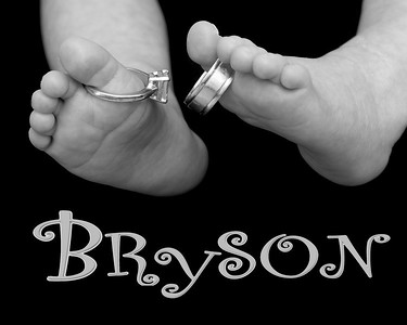 BP102_5227_061308_123716_40DT little toes with rings B&W 8x10 with name_