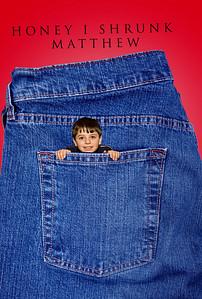 Denim Pocket on Red 1