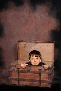 Open Antique Trunk