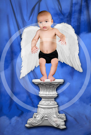 M205__AngelicPedestalWithWings