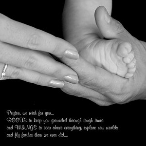 9990-peyton foot mom&dad B&W 10x10 Quote2