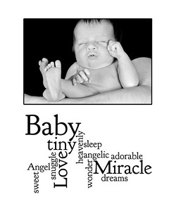 baby 16x20 wordle TEMPLATE wordle ver1 veronica