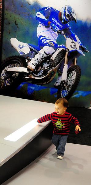 Soren at Motorcycle Show 12-17-11