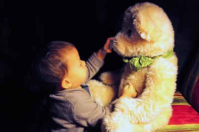 Soren at Teddy Bear Suite 12-7-11