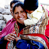 A mother and child at the garden behind Museo Coriconcha in Cusco, Peru.
