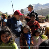 When we went to a village near a clay roof tile factory, we were swarmed with kids. This is at the Altiplano Region of Peru.