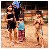 Children selling souvenirs in Rio Negro, Amazon River, Brazil.
