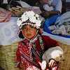 Another young girl in Pisac market in Peru.