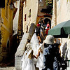 The girls finally catch up with the wedding procession. This is at Eze, France.