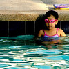 A young girl swimmer spotted in an hotel pool in Singapore.