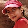 A close portrait of a local Petra, Jordan girl.