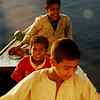 Egyptian boys approaching our cruise boat in Cairo, Egypt.