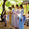 A family of singers composed of a mother, 4 daughters and a young brother entertain us at a village in the Mekong Delta, Vietnam.