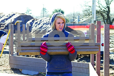 Photo by Shannon Wilson / Tyler Morning Telegraph Haley Middleton is a senior at Bullard High School and is volunteering to help build the new Bullard Kids Park.  The park will be unvailed on Sunday, January 20th at 4:00.