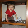 More climbing on the end table.