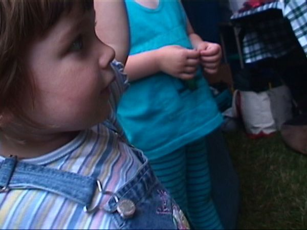 Ana at a concert in Middlebury, VT, July 2001-4