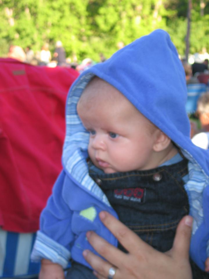 Owen wears a hoodie...