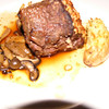 Amy has the Filet with fingerling potato and grilled Truffle mushrooms