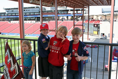 2009 March 29 - Scout Day at FC Dallas game