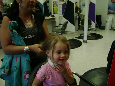 Rebekah's 1st haircut (2)