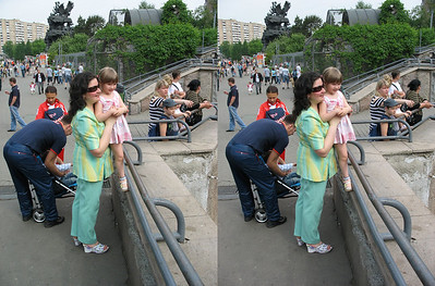 2010-05-16, Moscow Zoo with Melnikovs (3D Stereo, cross-eye view)