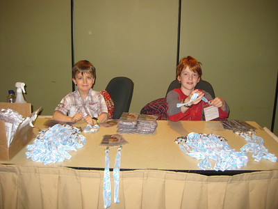 Slave Labor (Assembling TradeShow landyards) - March 2011