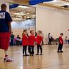 Kaitlyn, Hannah and Aaron at Basketball class