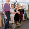 Grandma Barrett, Ava, Hannah, Kaitlyn and Aaron at the Space Needle.