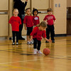 Kaitlyn at their first basketball class.