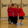 The kids at their first basketball class.