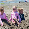 Kaitlyn, Hannah and Aaron at Jetty Island near Everett