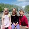 Hannah, Kaitlyn and Aaron by Seattle Center's International Fountain at the 2011 Northwest Folklife Festival