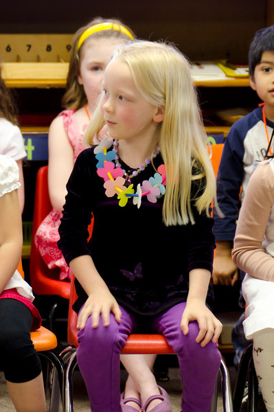 Hannah at the Rainbow Montessori Spring Festival.