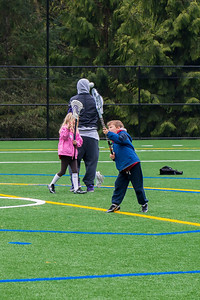 Aaron at a lacrosse clinic