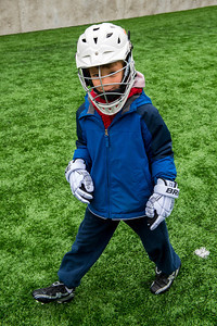 Aaron at a lacrosse clinic.
