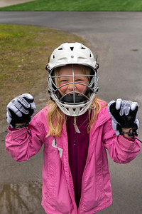 Hannah at a lacrosse clinic