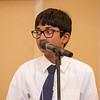 Deepak Kolli spells a word during the 2016 North Central Massachusetts Regional Spelling Bee on Tuesday evening. SENTINEL & ENTERPRISE / Ashley Green
