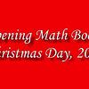 Opening Math Books