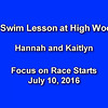 2016-07-10 High Woodlands Swim Lesson (Hannah and Kaitlyn)