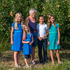Hannah, Ava, Eleanor, Aaron and Kaitlyn in an apple orchard behind the house where Eleanor grew up in Yakima