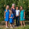 Hannah, Ava, Eleanor, Aaron and Kaitlyn in an apple orchard behind the house where Eleanor grew up in Yakima