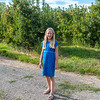 Hannah in one of the Brandt apple orchards