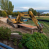 Construction work bringing sewer to our lot