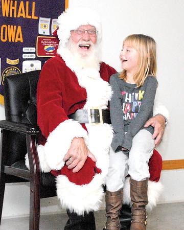 2017, Santa visits Newhall