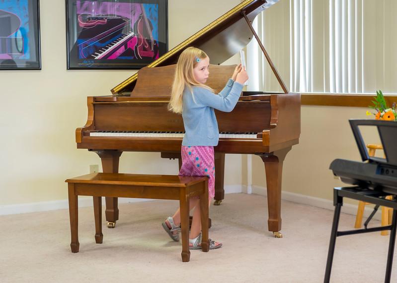 Ava's end of season piano concert.