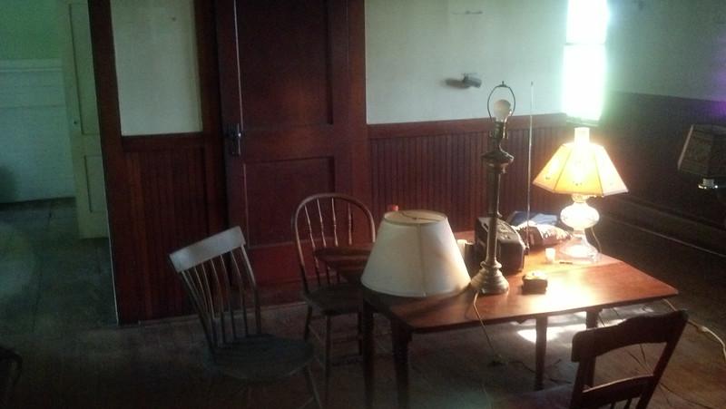 Dining room, back stairs behind door.
