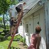 Silas and Vanessa climb up