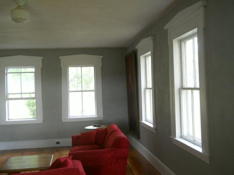 Living room with Ellen Halton Axtell.