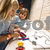 Devin Smith, 7, and Ava Hawkins, 7, work on a project during a lego robotics summer camp at Discovery Science Place in Tyler, Texas, on Wednesday, June 28, 2017. Students learned teamwork, the basics of coding, as well as design principles for their robots. (Chelsea Purgahn/Tyler Morning Telegraph)